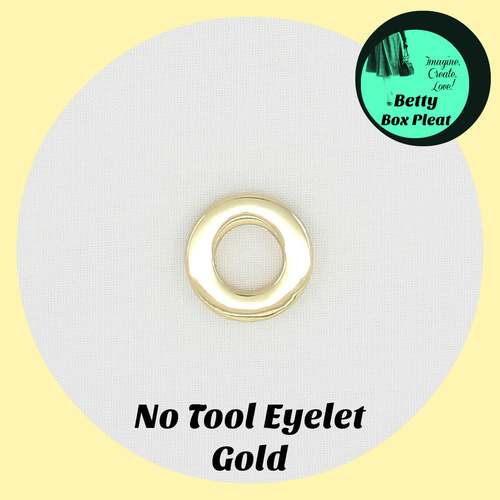 11mm - No Tool Eyelets - Gold - 10 pack
