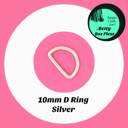 10mm D Ring - Silver - Pack of 10