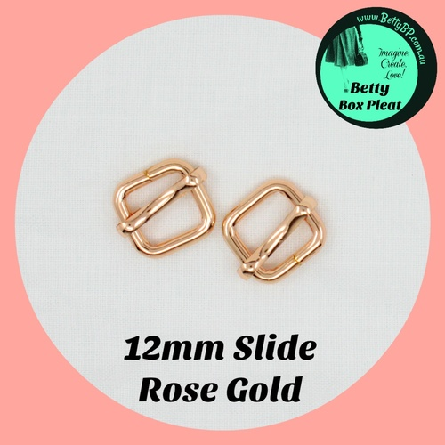 12mm Slide - ROSE GOLD - 10 pack