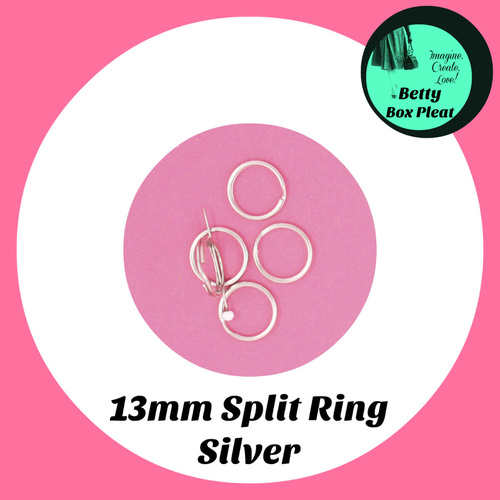 13mm Split Ring - Silver - pack of 10