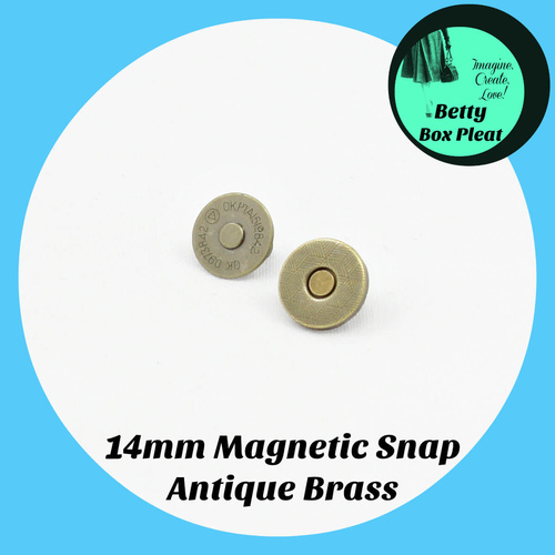 14mm Magnetic Snap - Ant/Brass - 10 pack
