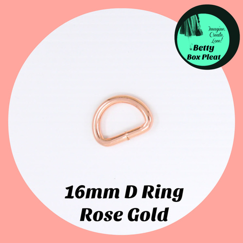 16mm D Ring - Rose Gold - 2 pack