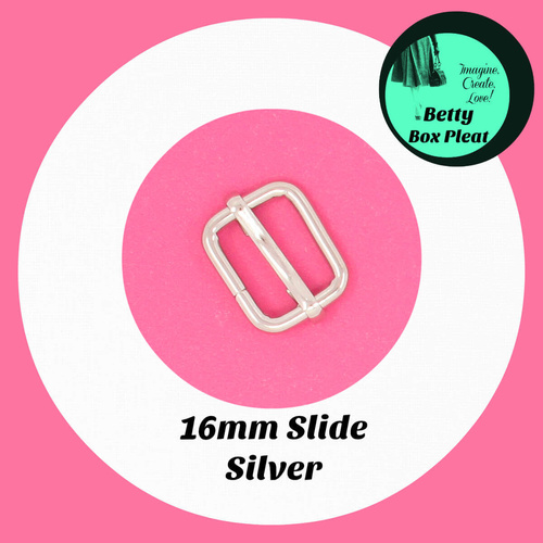 16mm Slide - Silver - Pack of 2