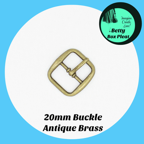20mm Alloy Buckle - Ant/Brass - Pack of 10