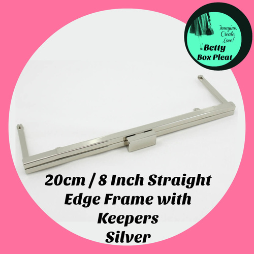 20cm / 8 Inch Straight Edge Purse Frame x 4 - with Chain Keepers