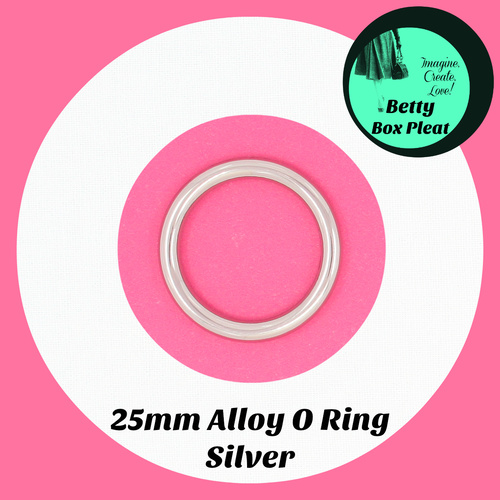25mm Alloy O Ring - Silver - Pack of 2