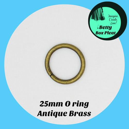 25mm O Ring - Ant/Brass - Pack of 10