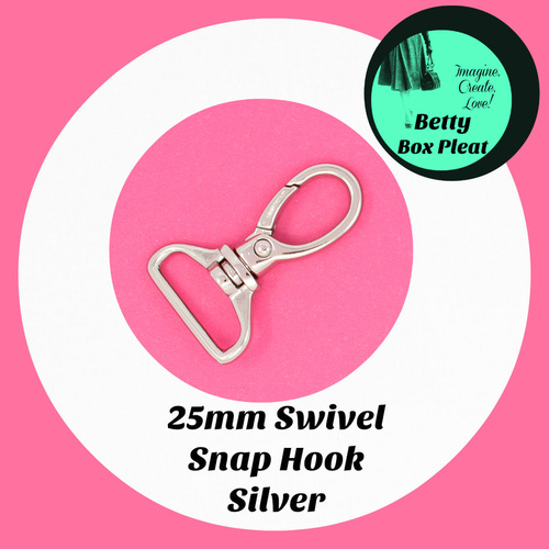 25mm Swivel Hook - Silver - pack of 10
