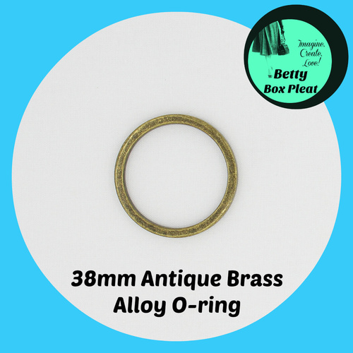 38mm Alloy O-Ring - Ant/Brass - Pack of 10