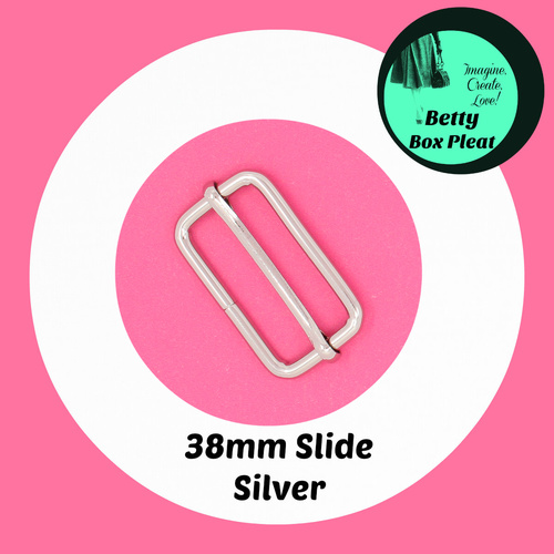 38mm Wire Slide - Silver - Pack of 2