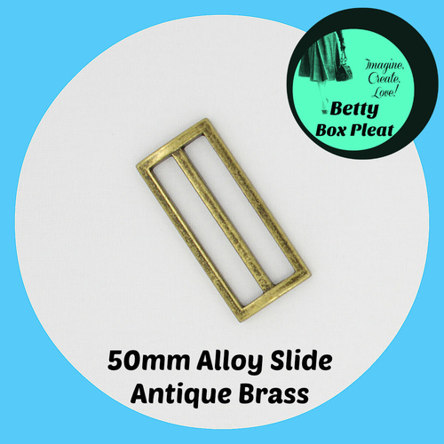 50mm Alloy Slide - Ant/Brass - Pack of 10