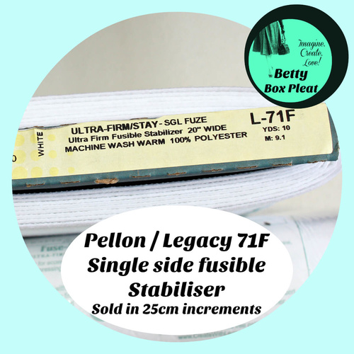 Peltex 71F - 25cm lengths - Single Side Fusible Stabiliser