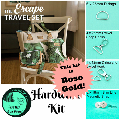 LMD - Escape Travel Set - Hardware Kit - Rose Gold