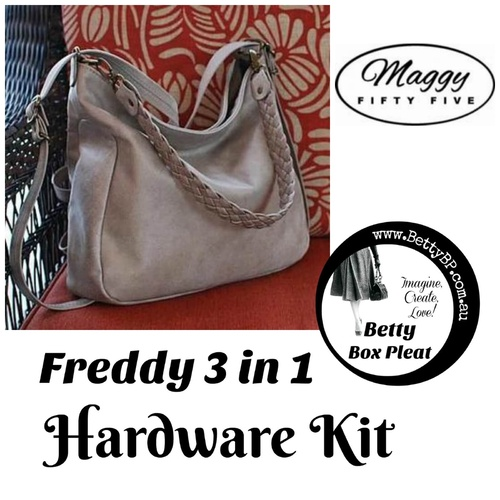 Maggy55 – Freddy 3 in 1 - Silver Hardware Kit