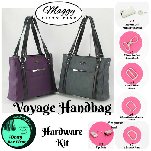 Maggy55 – Voyage – Rect/ring Silver Hardware Kit