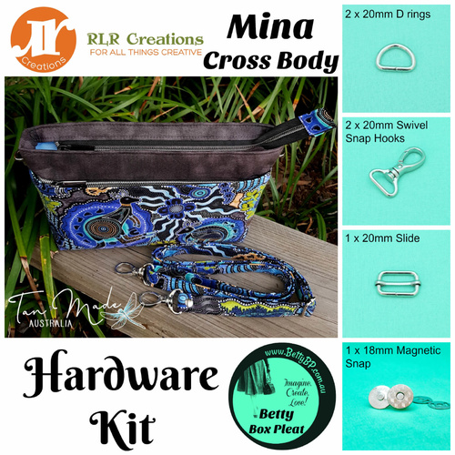 RLR - Mina Crossbody - Silver Hardware Kit