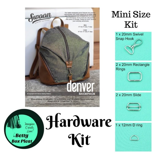 Swoon Denver Silver – Mini size - Hardware Kit